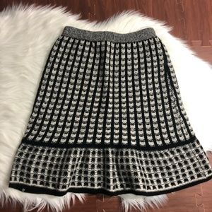 Anthropologie Skirts - Anthro Sparrow Black White Sweater Knit Skirt M